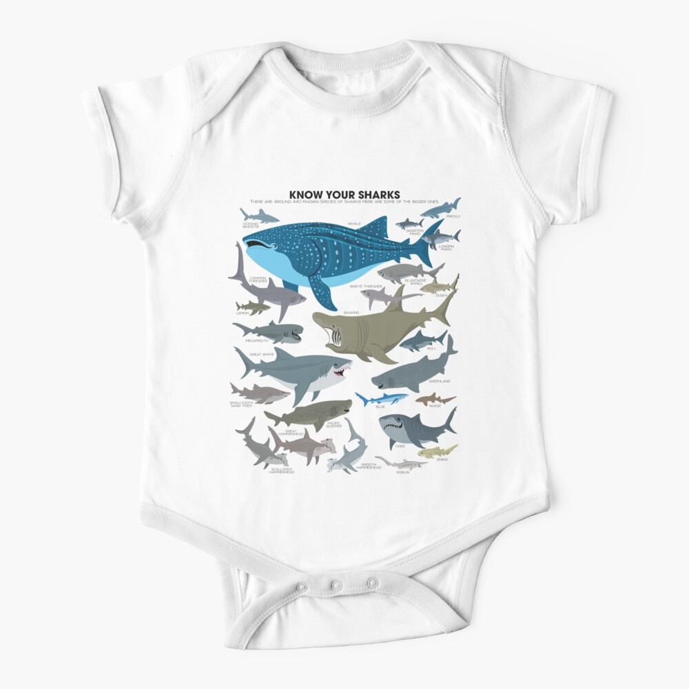 Know Your Sharks Baby One-Piece