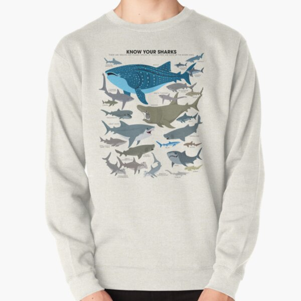 Know Your Sharks Pullover Sweatshirt