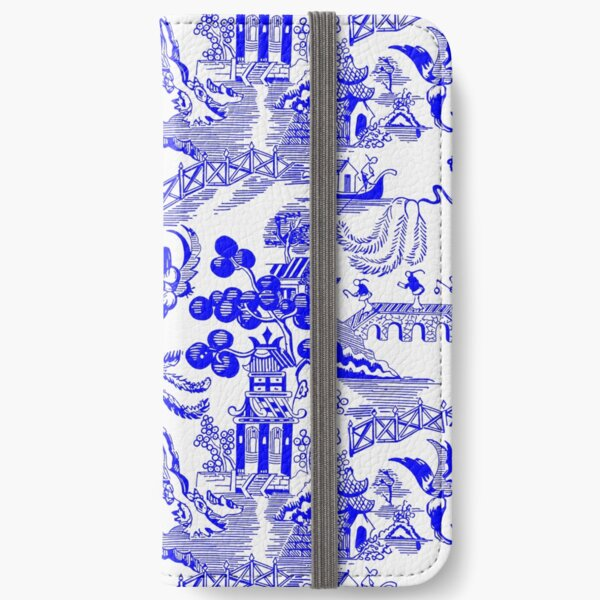 Blue Willow Chinoiserie iPhone Wallet