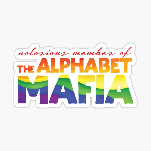 Miembro notorio de la mafia del alfabeto Pegatina