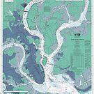 Charleston Harbor Map by parmarmedia
