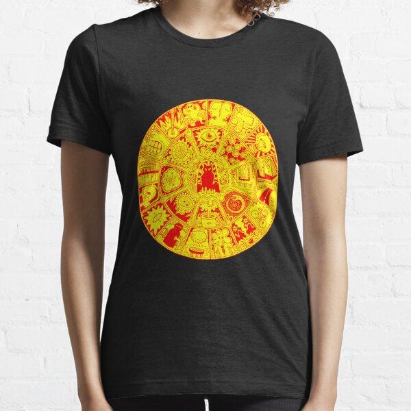 Cat Mandala in Orange and Yellow Essential T-Shirt