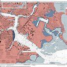 Boston Harbor Map by parmarmedia