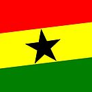 Flag of Ghana, West Africa, with Black Star by Remo Kurka