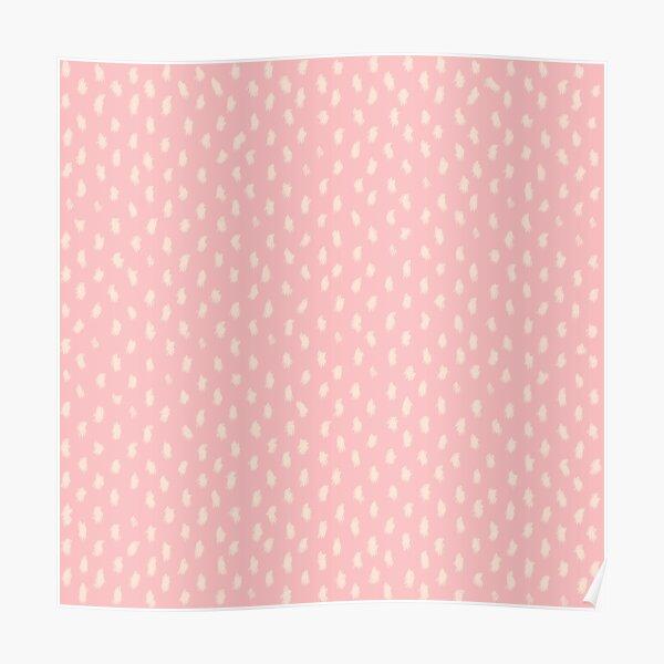 Blush Scandinavian hand drawn dots pattern  Poster