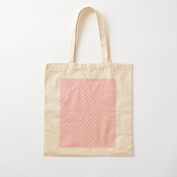 Blush Scandinavian hand drawn dots pattern  Cotton Tote Bag