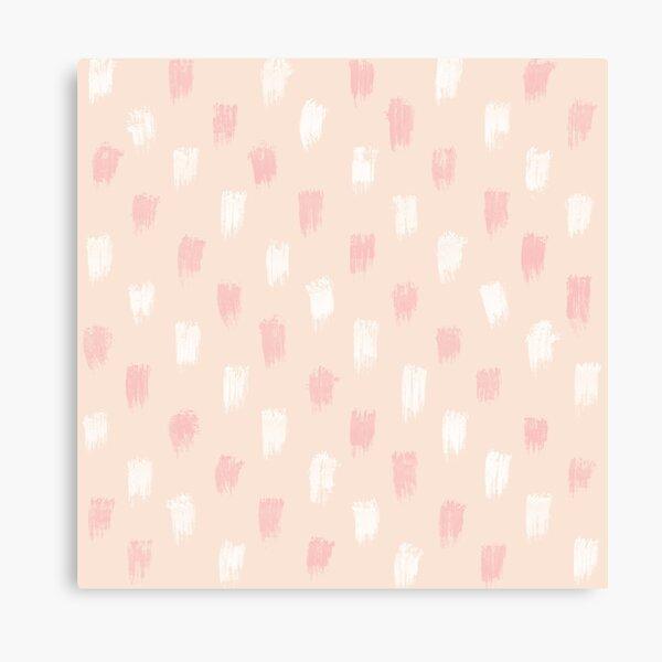 Blush Scandi dot stripes Canvas Print