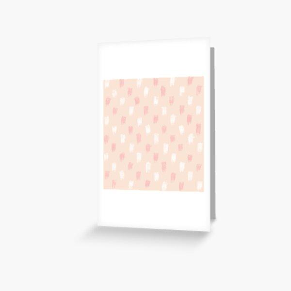 Blush Scandi dot stripes Greeting Card