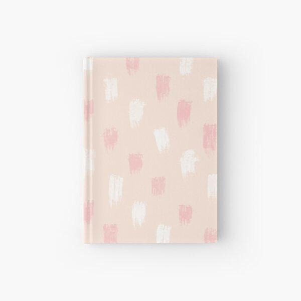 Blush Scandi dot stripes Hardcover Journal