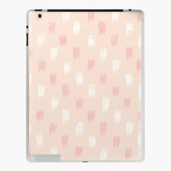 Blush Scandi dot stripes iPad Skin