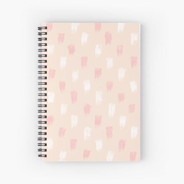 Blush Scandi dot stripes Spiral Notebook