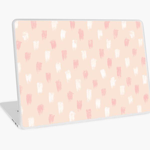 Blush Scandi dot stripes Laptop Skin
