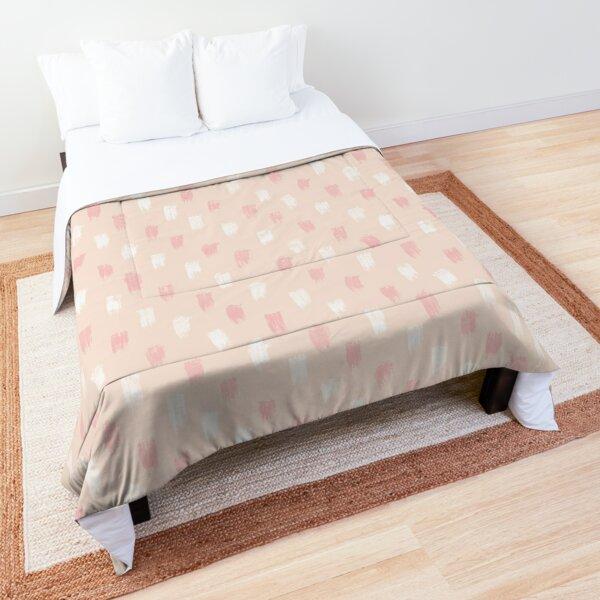 Blush Scandi dot stripes Comforter
