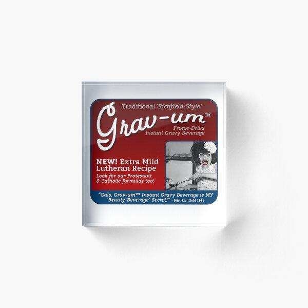 Grav-um Freeze Dried Instant Gravy Beverage Acrylic Block