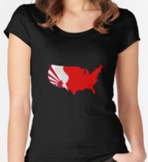 The Man in the High Castle Map Women's Fitted Scoop T-Shirt
