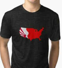 The Man in the High Castle Map Tri-blend T-Shirt