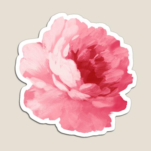 Flower pink peony Magnet