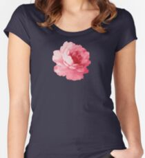 Flower pink peony Women's Fitted Scoop T-Shirt