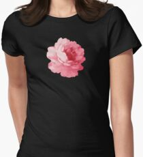 Flower pink peony Women's Fitted T-Shirt