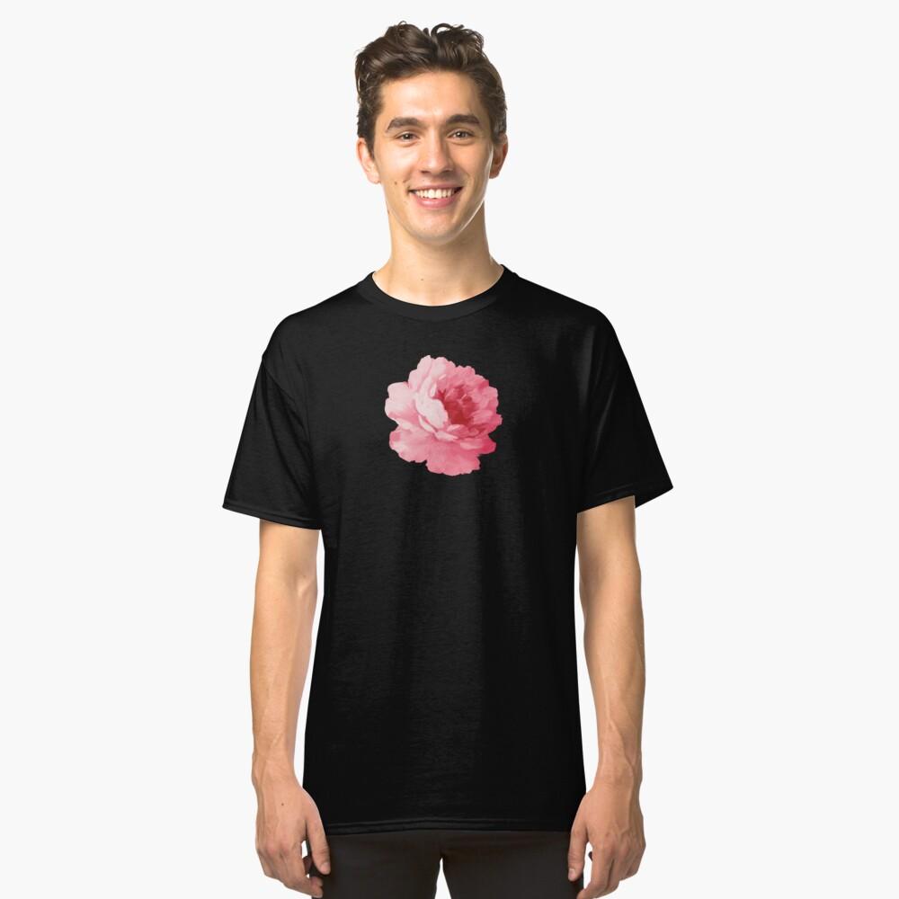 Rosa Pfingstrose der Blume Classic T-Shirt