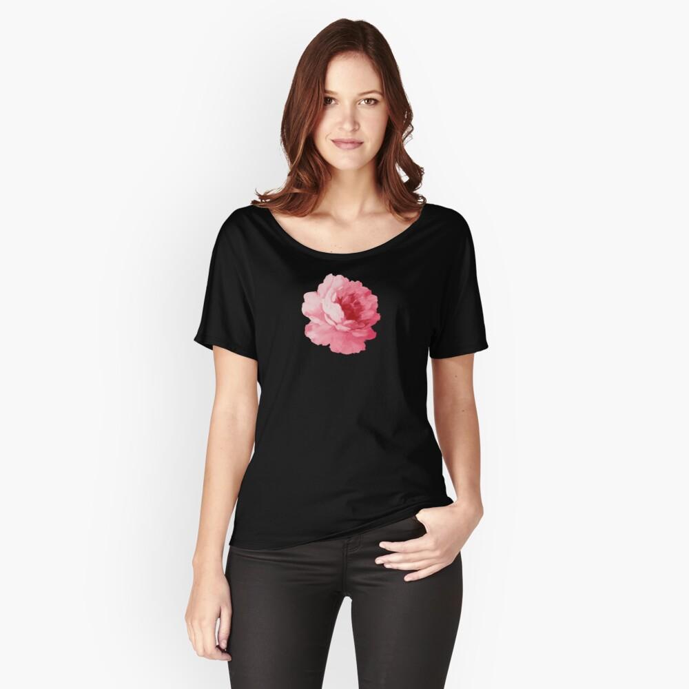 Rosa Pfingstrose der Blume Loose Fit T-Shirt