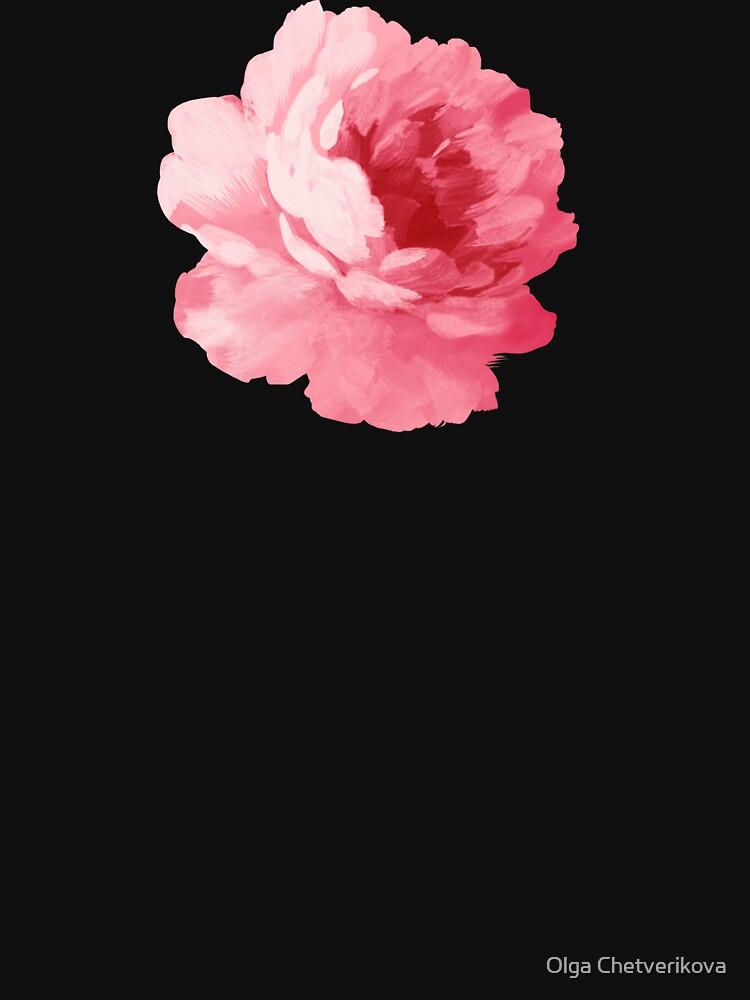 Rosa Pfingstrose der Blume von afremovartist