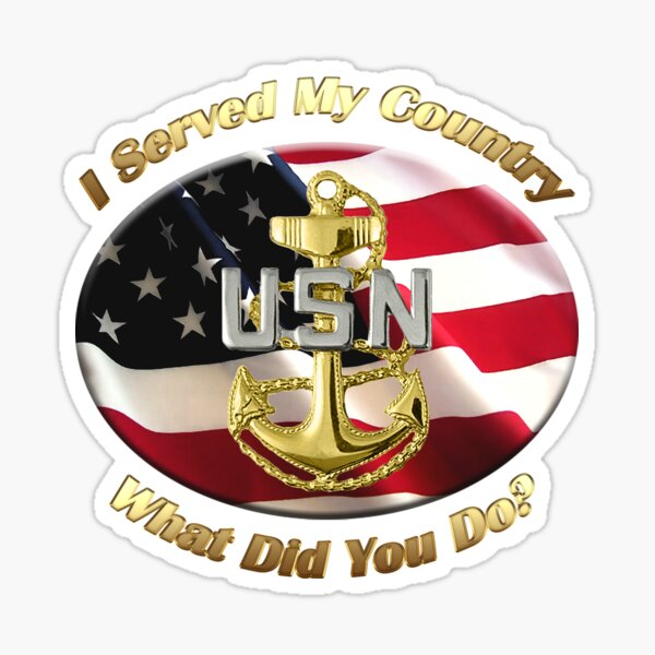 Navy Chief Petty Officer I Served My Country Sticker