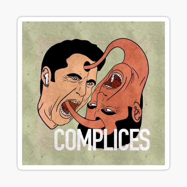COMPLICES THE PODCAST THAT REMAINS CRIME Sticker