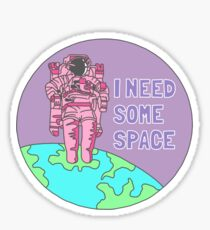 Introvert awkward tumblr space galaxy teen snapchat sticker print Sticker