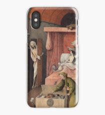 Hieronymus Bosch - Death And The Miser. 1485 iPhone Case/Skin