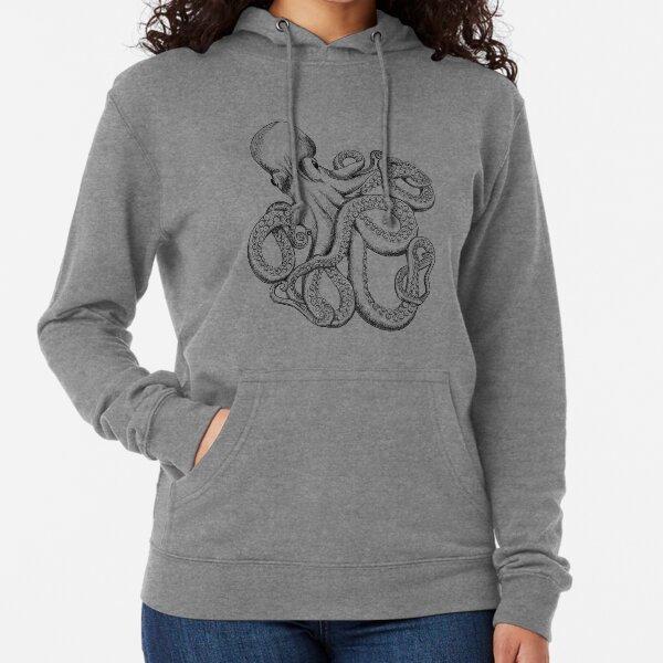 Octopus Line Art Lightweight Hoodie