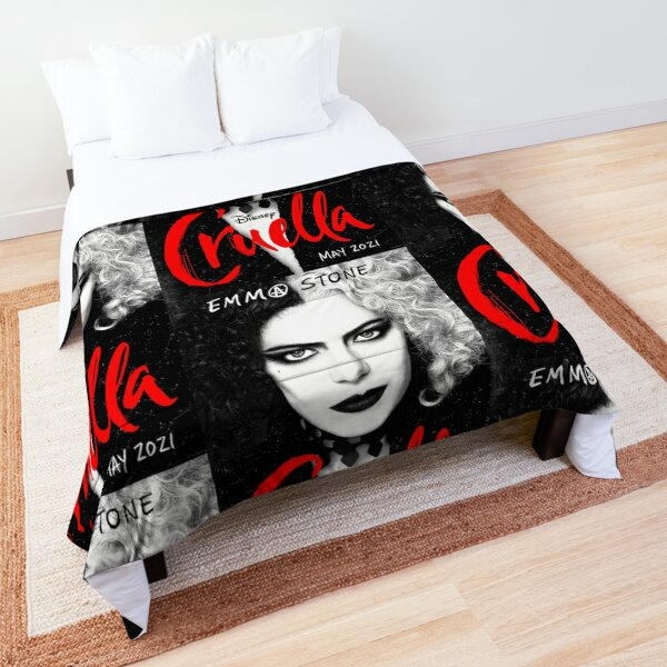 CRUELLA DE VIL (evil villain) movie poster Comforter