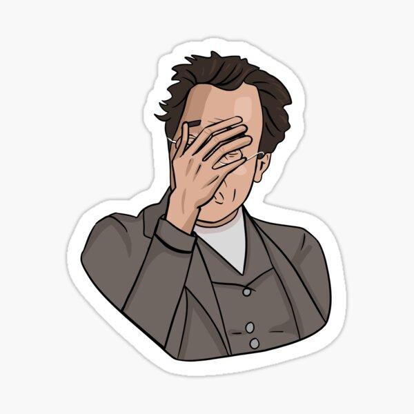 "Mahler ""Facepalm"" Classical Composer Sticker Sticker"
