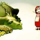 Little Red Hood and The Dragon by Katarzyna Wolodkiewicz