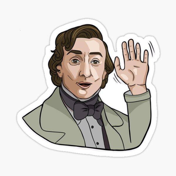 "Chopin ""Wave"" Classical Composer Sticker Sticker"