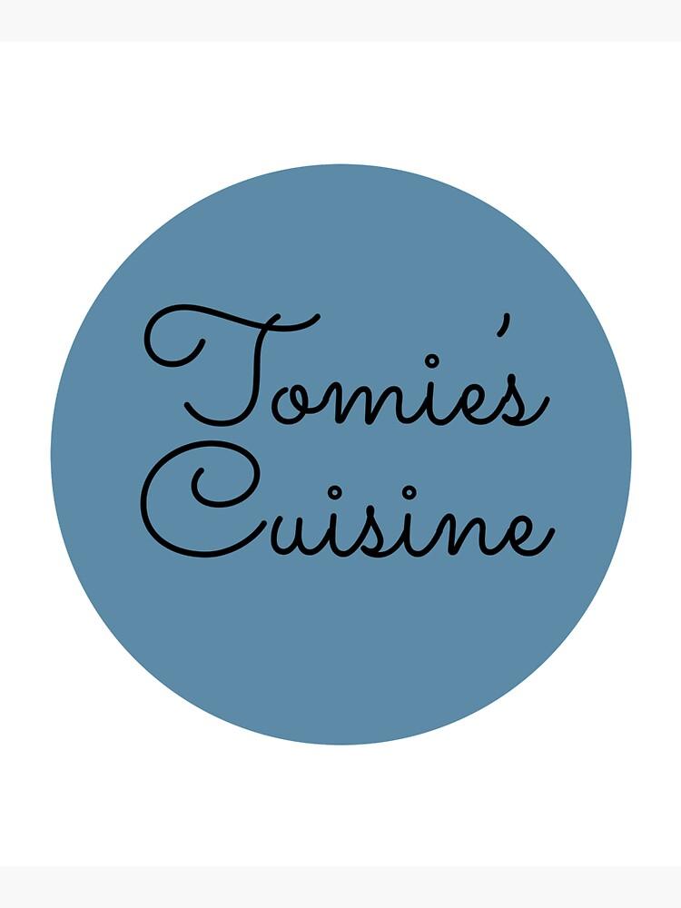 Tomie's Cuisine blue logo by tomiescuisine