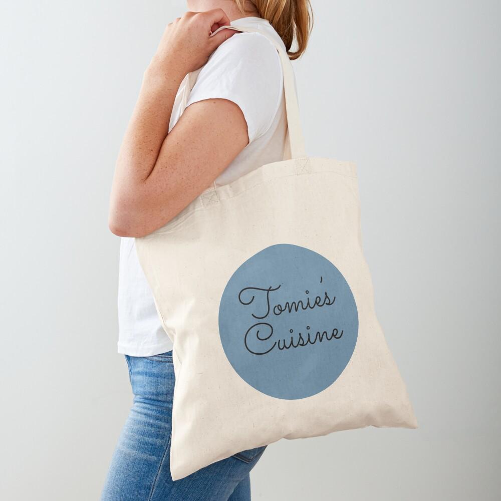 Tomie's Cuisine blue logo Tote Bag