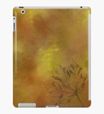 Autumn Maple Leaf in Gold iPad Case/Skin