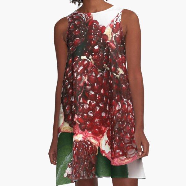 Sliced organic pomegranate A-Line Dress