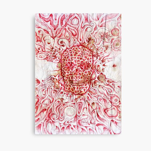 red zombie creativity is death by Leo Haz Canvas Print