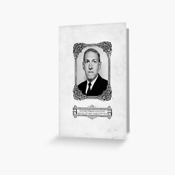 Howard Phillips Lovecraft Greeting Card