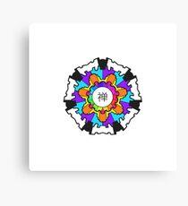 Chan Symbol Rainbow Contrast Canvas Print