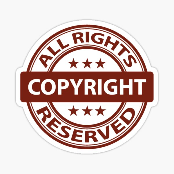 Copyright All Rights Reserved Symbol PNG  Sticker
