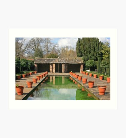 Dutch Garden, Hampton Court Castle Art Print