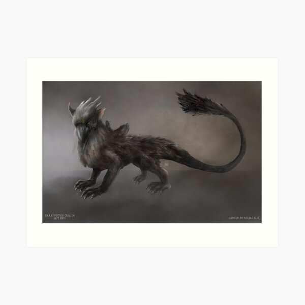 Spotted Griffin Art Print