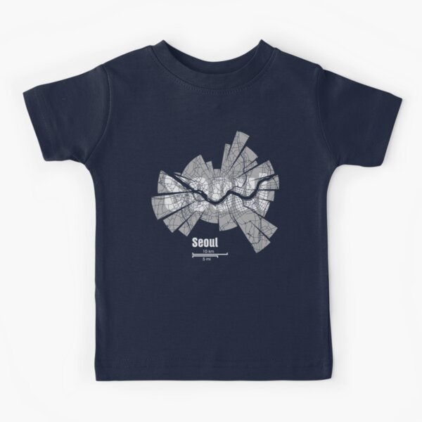 Seoul Map Kinder T-Shirt