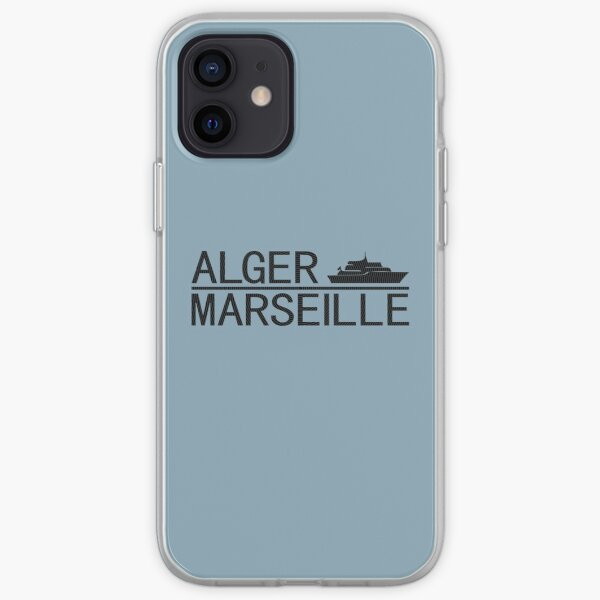 Alger Marseille, design de voyage Coque souple iPhone