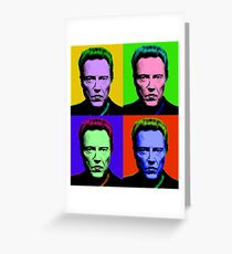 Walken goes Warhol Greeting Card