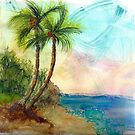 Multicolored Palm Sky by dkatiepowellart