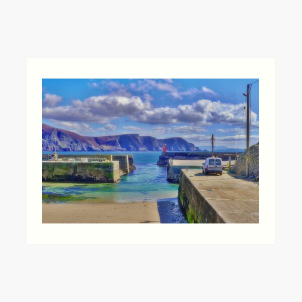 The Tide is Out at the Harbour Art Print